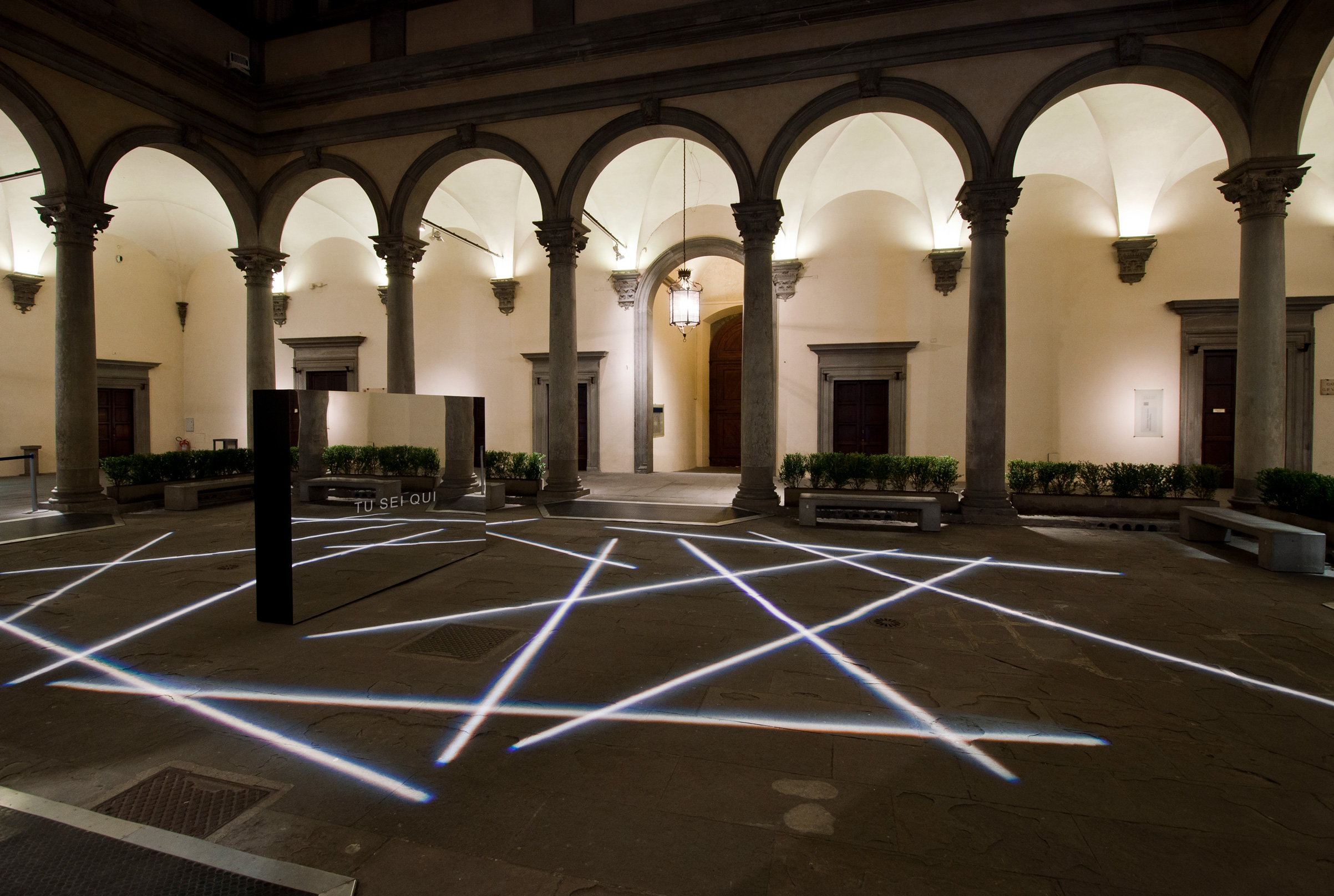 Outdoor court in strozzi palace firenze