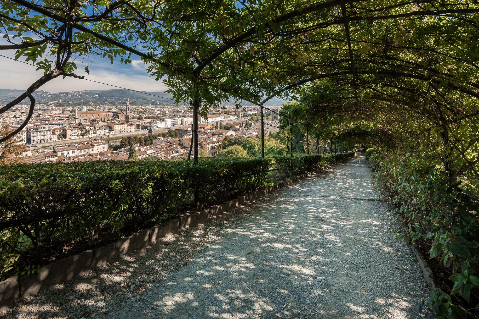 Villa bardini garden in florence Italy