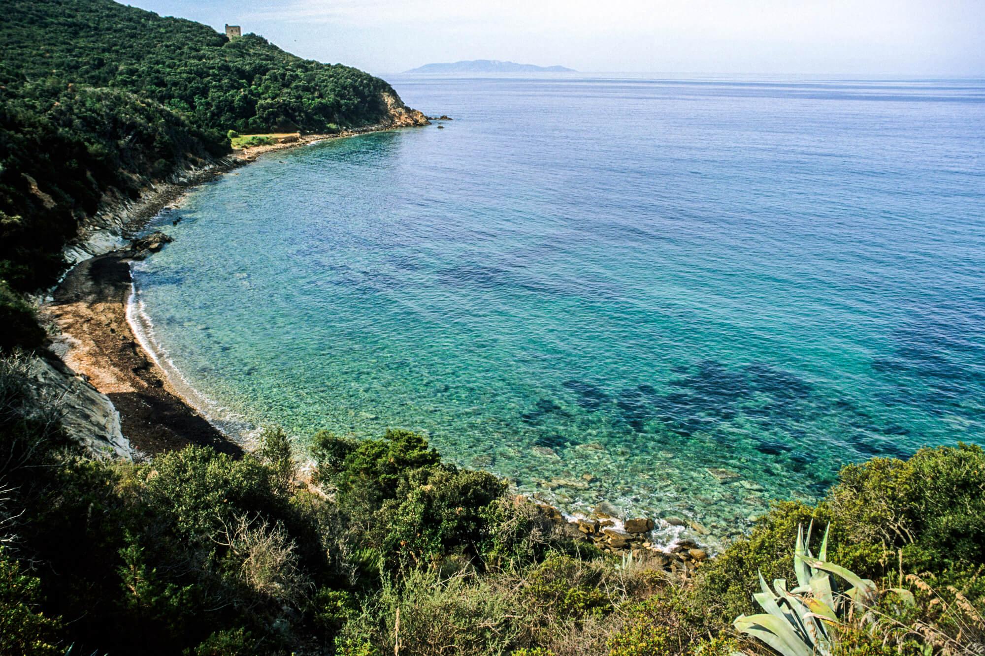 Talamone tuscan coastline