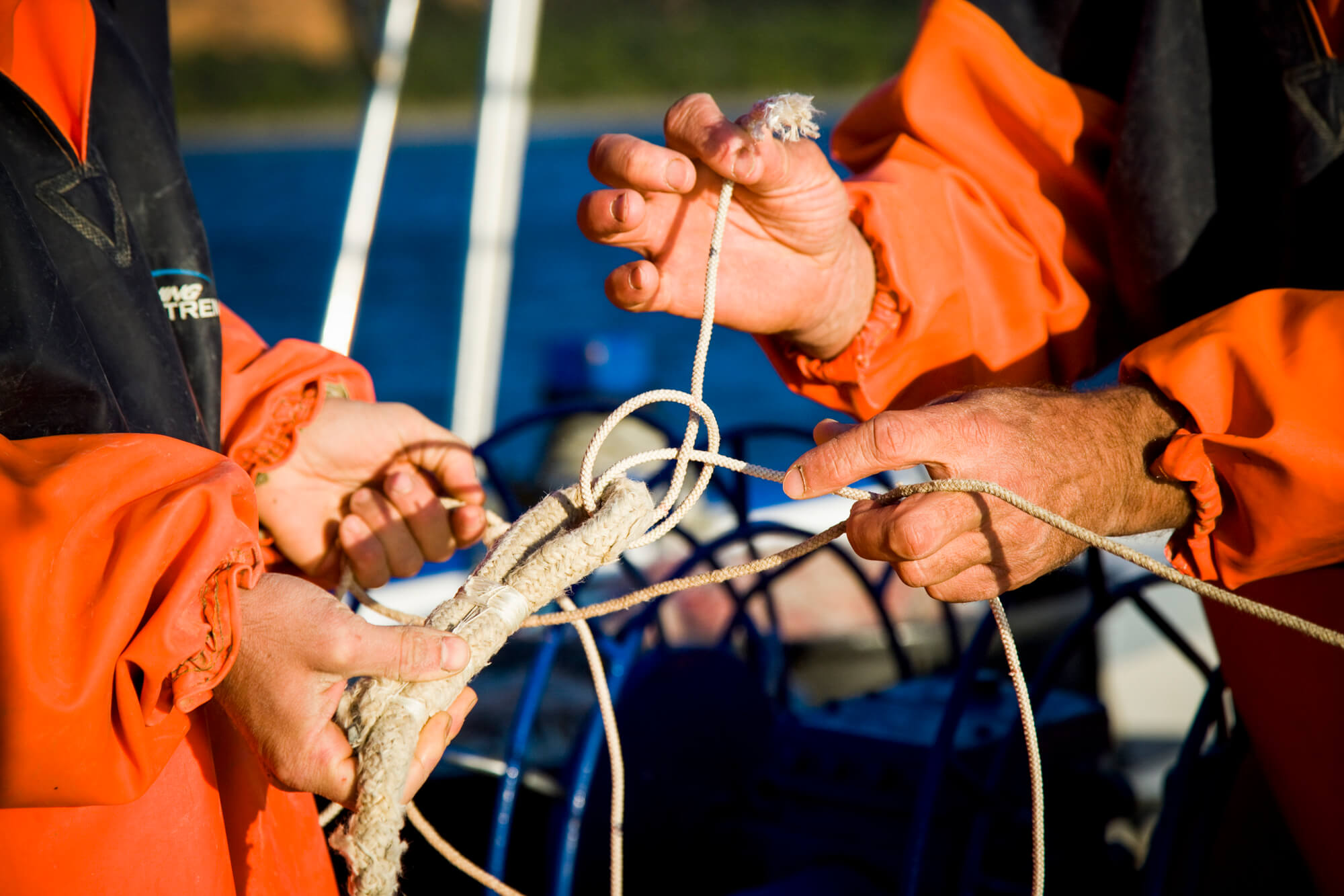 Fishing experience in tuscan sea
