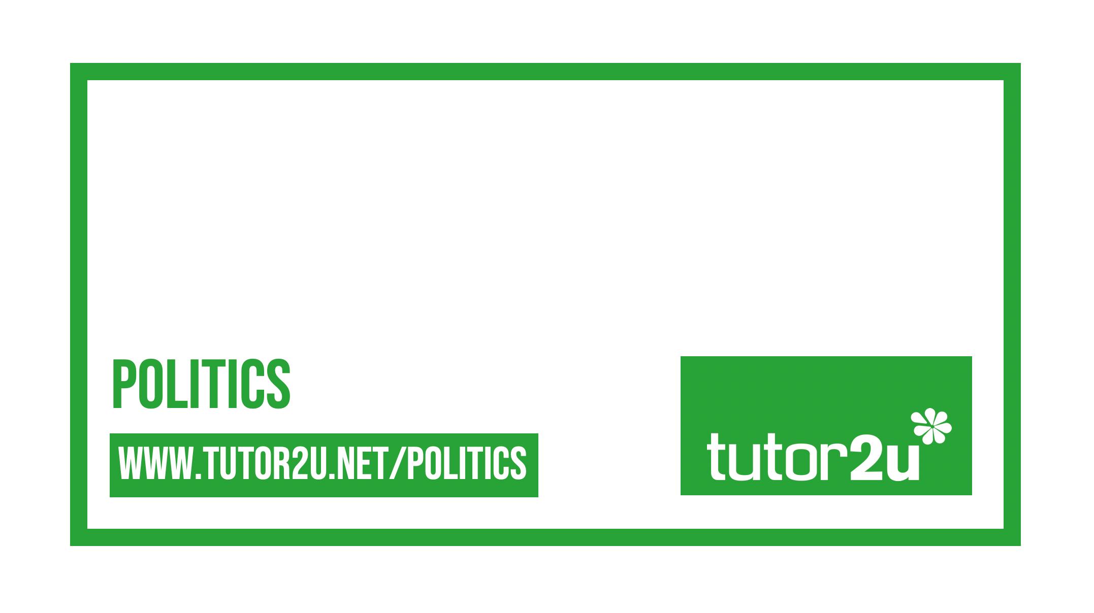 Study Notes Reference Library Politics Tutor2u