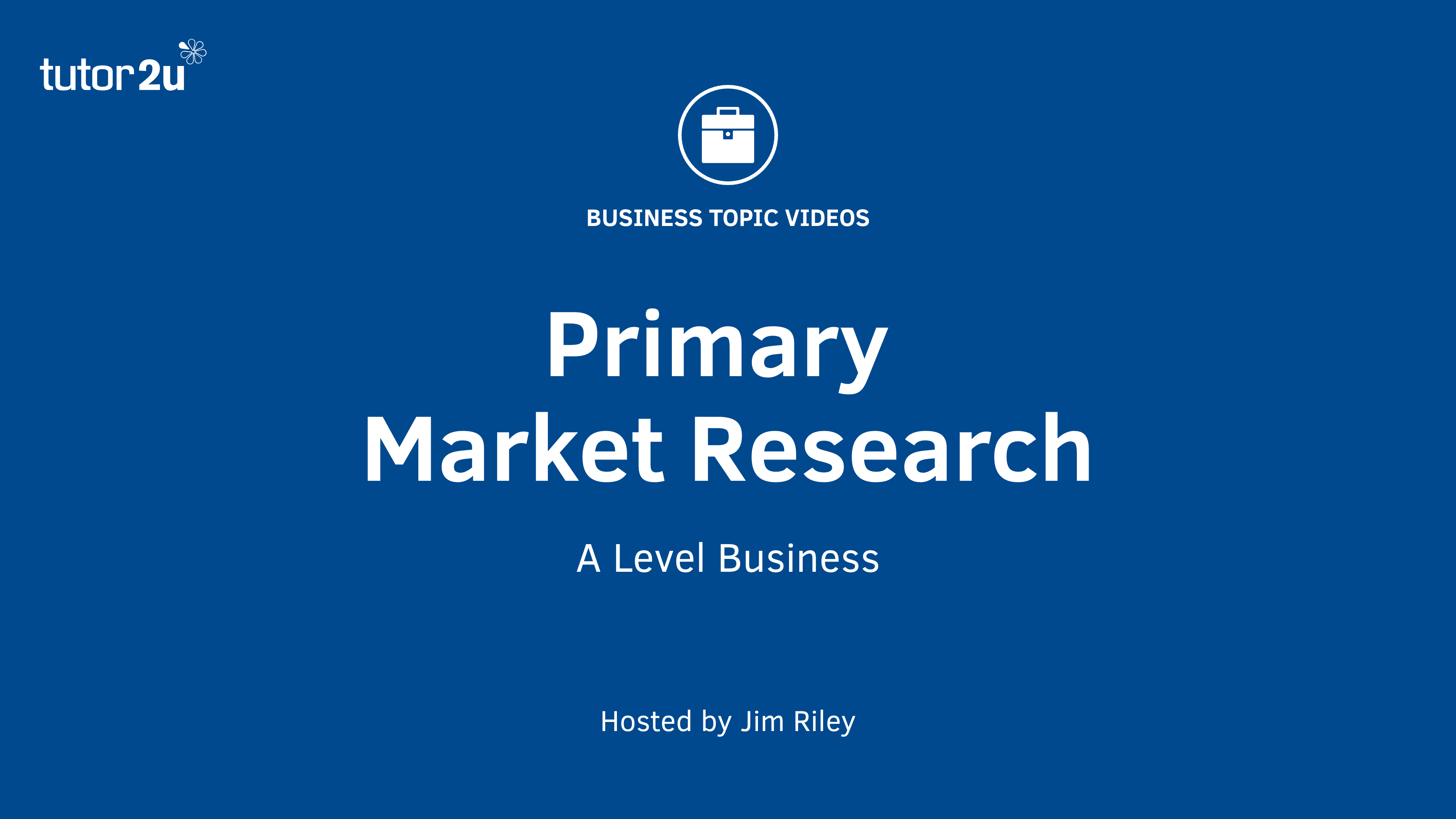 This Short Revision Video For Business Students Explains The Concept Of  Primary Market Research.