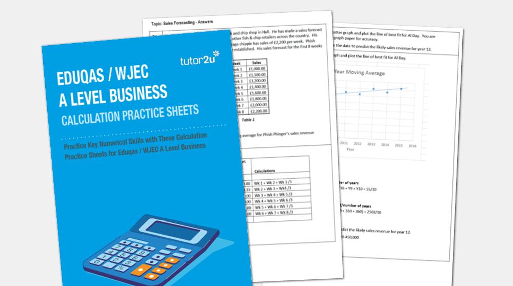 Eduqas/ WJEC A Level Business Calculation Practice…   tutor2u Business