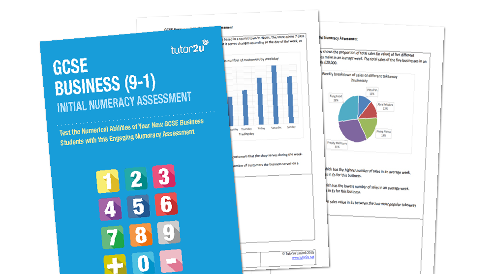 GCSE Business (9-1) Initial Numeracy Assessment | Business