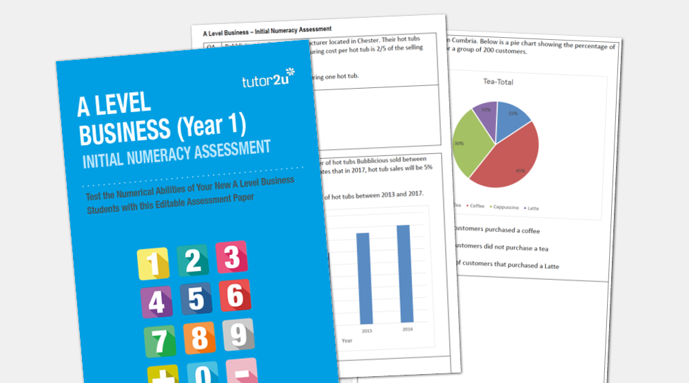A Level Business Initial Numeracy Assessment - Free | tutor2u Business