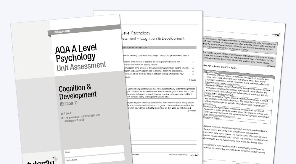 Cognition & Development: AQA A Level Psychology | Psychology | tutor2u