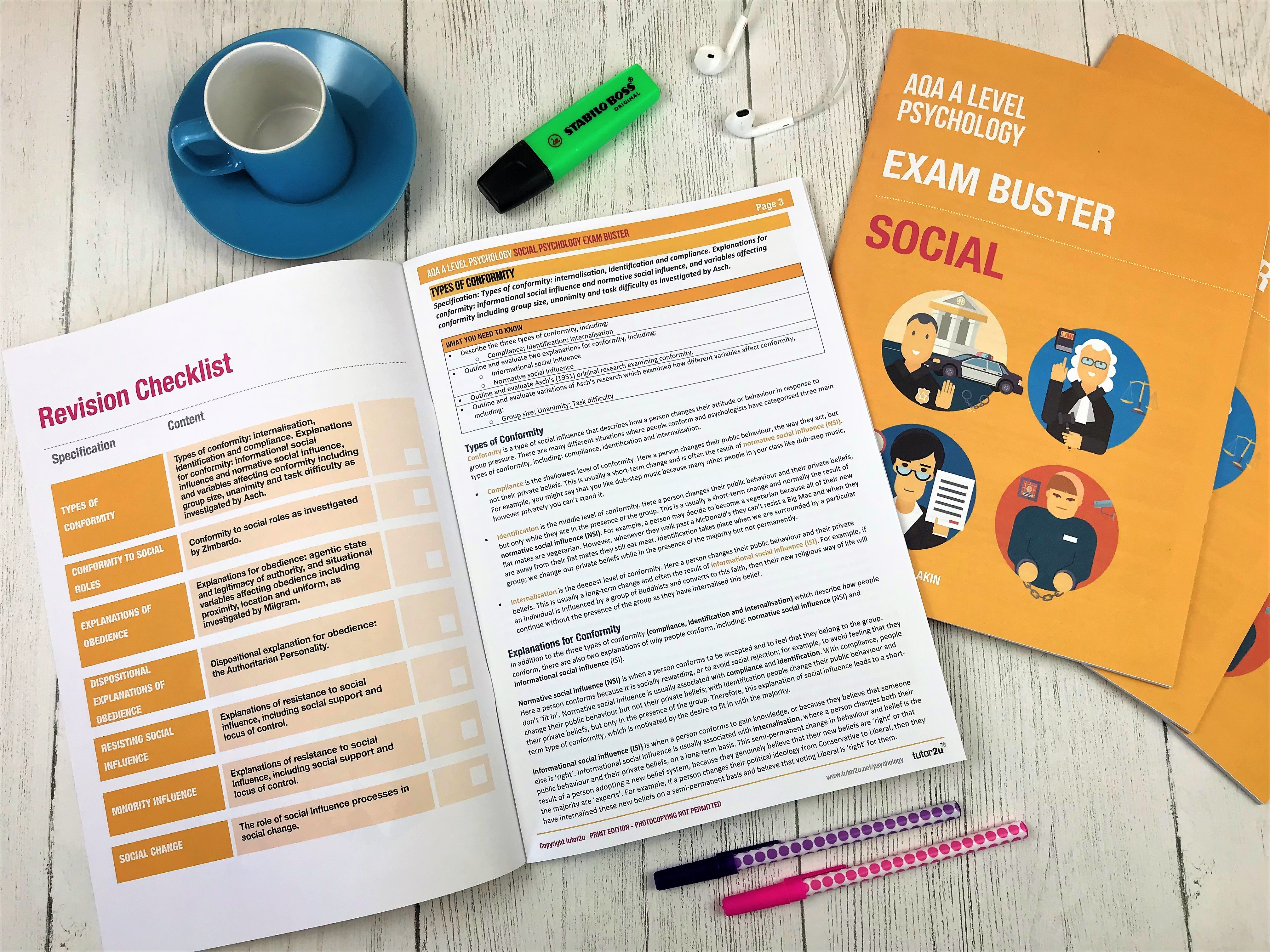Social Psychology: Exam Buster Revision Guide…   Psychology
