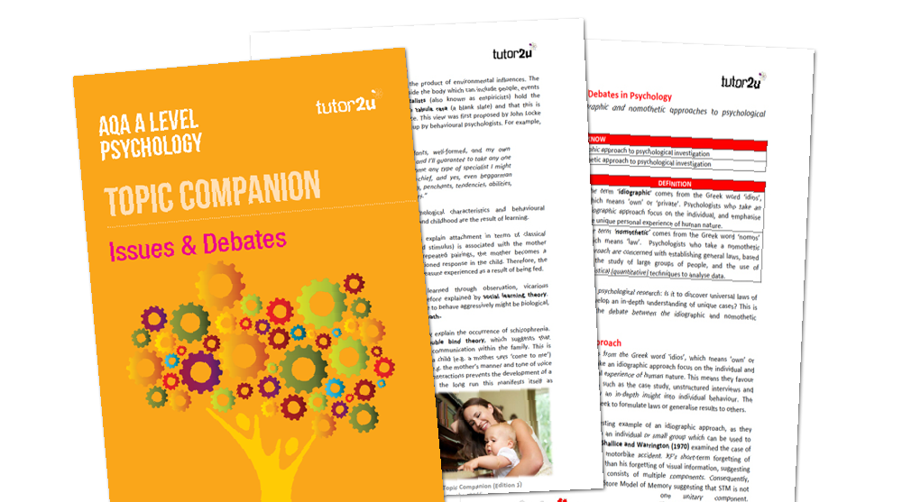Issues & Debates: AQA A Level Psychology Topic… | Psychology