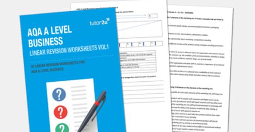 AQA A Level Business Linear Worksheets | tutor2u Business