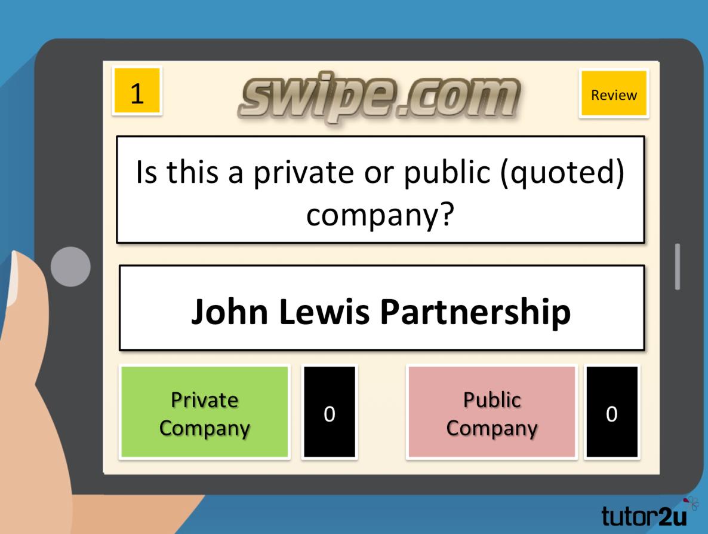 Swipe-It! Private and Public Companies   Business   tutor2u