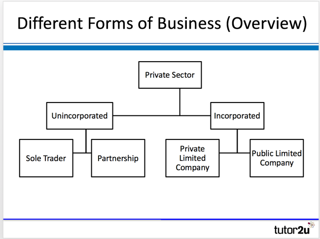 different forms of business overview tutor2u business