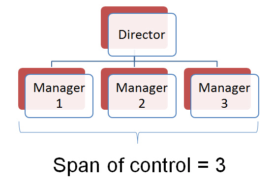 difference between narrow and wide span of control