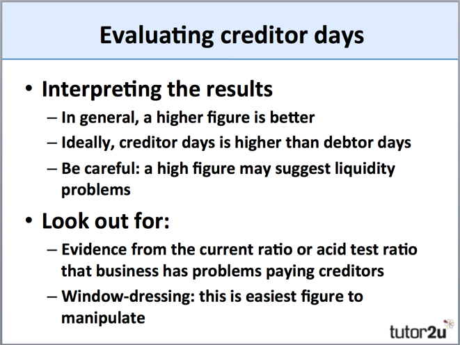 Creditor Payables Days