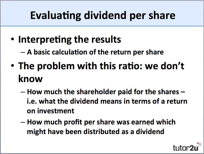 Dividend per Share | Business | tutor2u