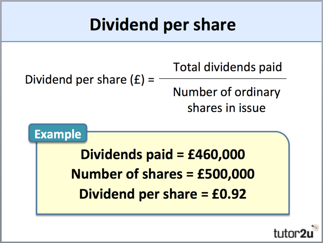 dividend example problems