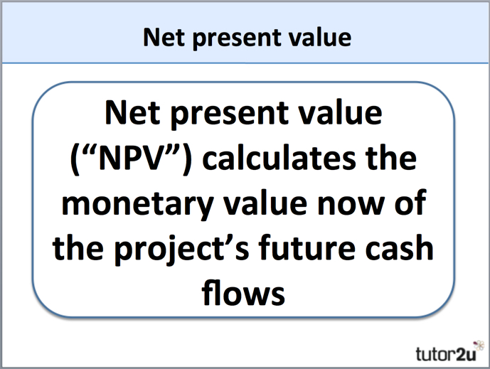 Net Present Value NPV – Define Business Investment