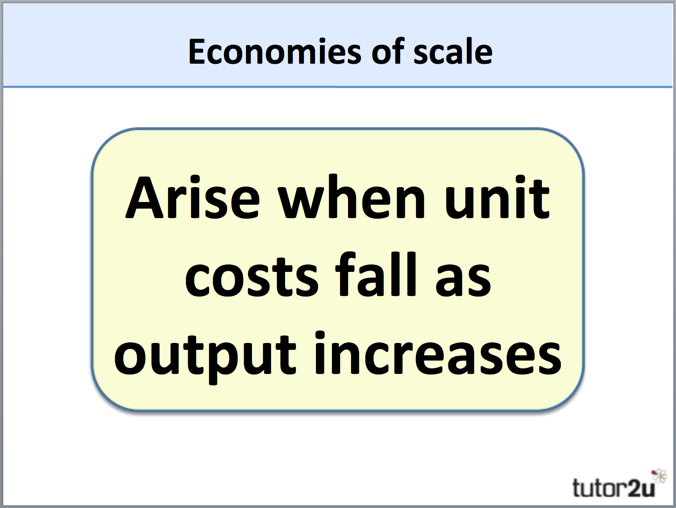 define technical economies of scale