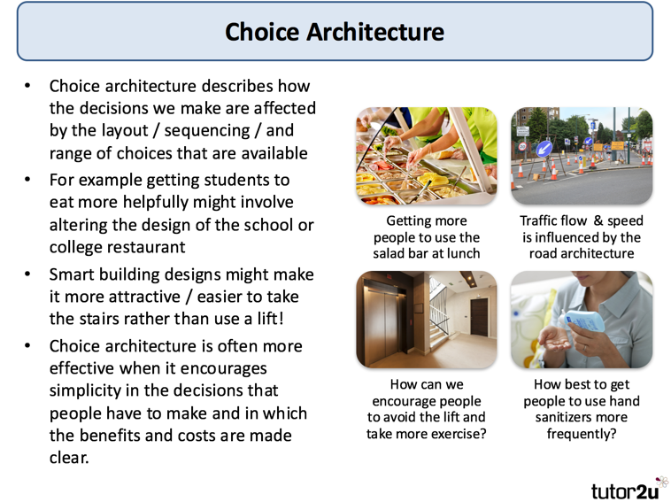 Choice Architecture (Behavioural Economics) | tutor2u Economics
