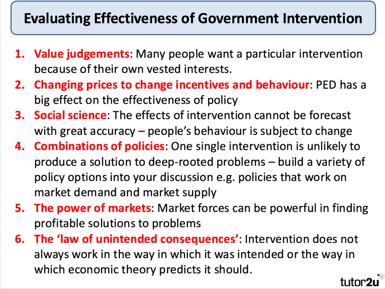 what are the arguments against government intervention in an economy