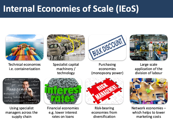a comparison of the concepts of economics of scale and economics of scope