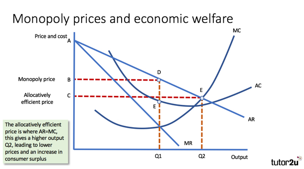 evaluating the impact of monopoly on welfare