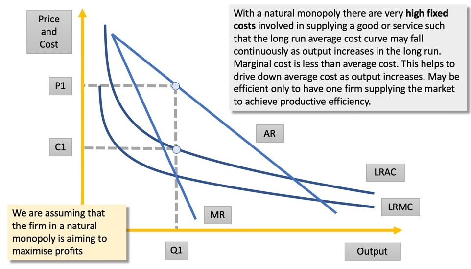 natural monopoly analysis diagram
