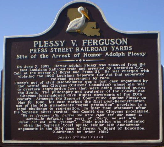 study com plessy vs ferguson