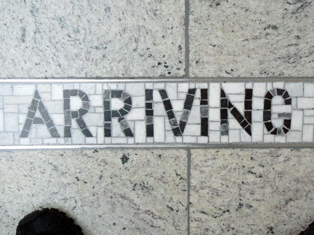 arriving