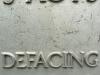defacing