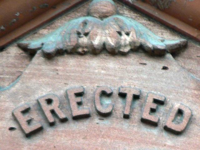 erected