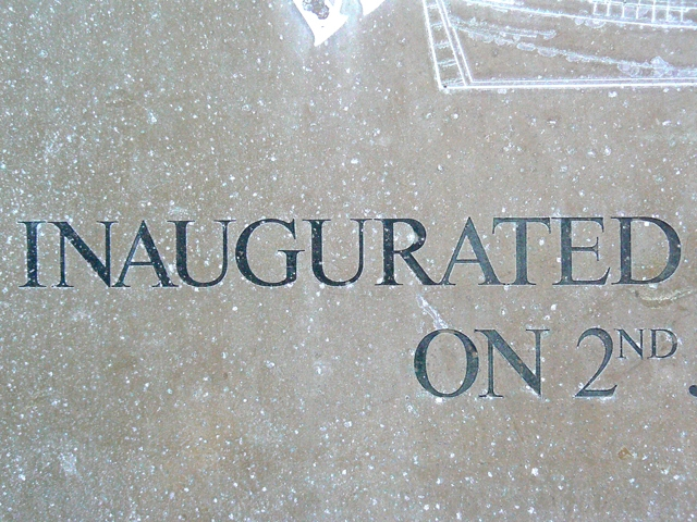 inaugurated