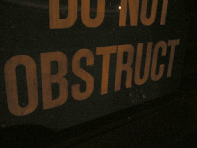 obstruct
