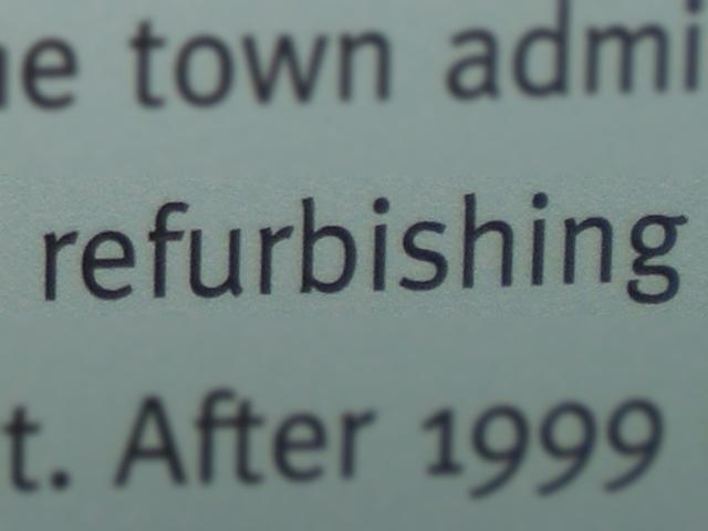refurbishing