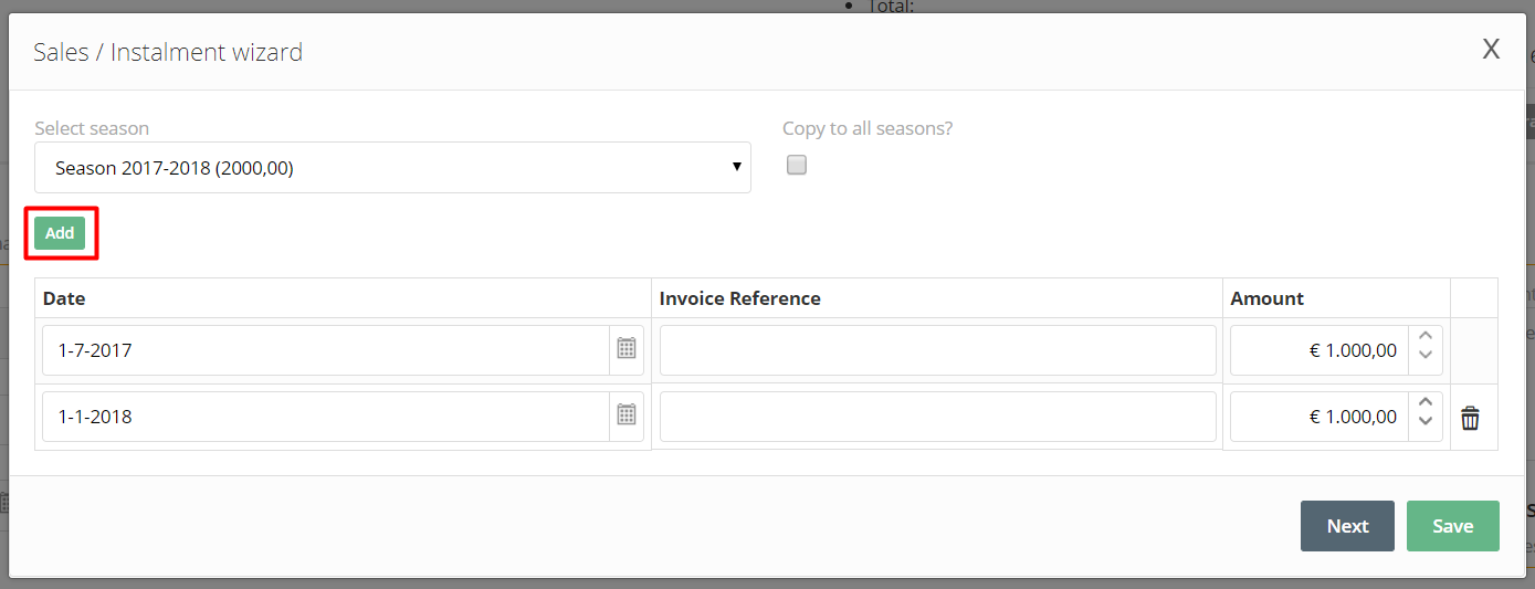 Adding An Invoice Reference When Creating Installments IXpole - Invoice 4 you