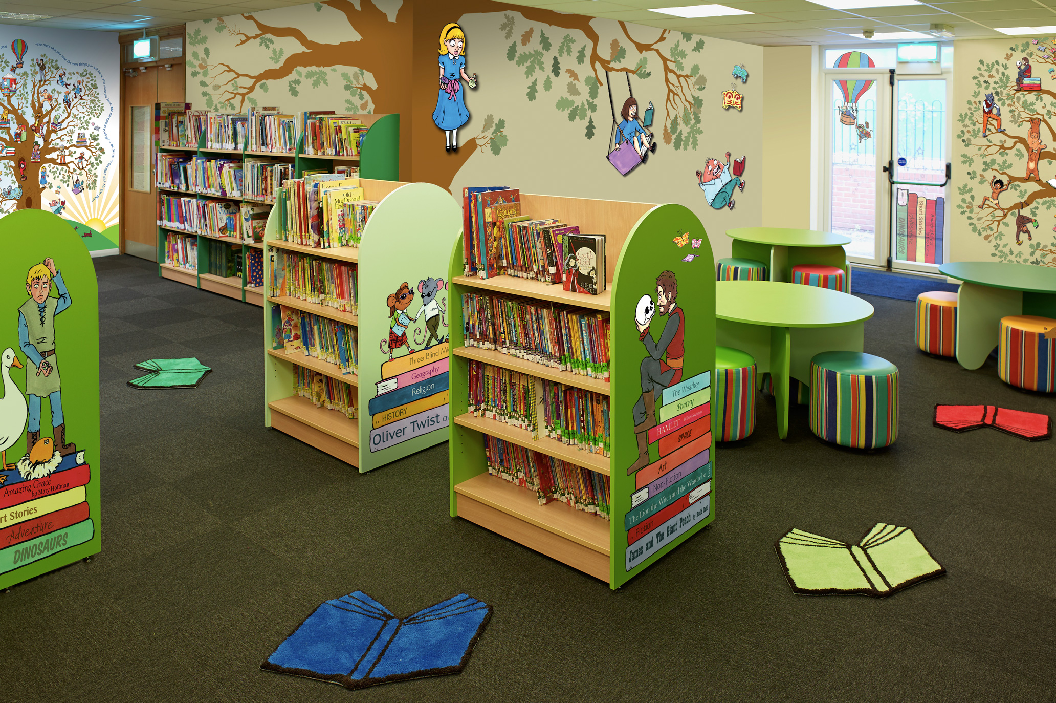 Classroom Display Design ~ Classroom reading area library displays the magical