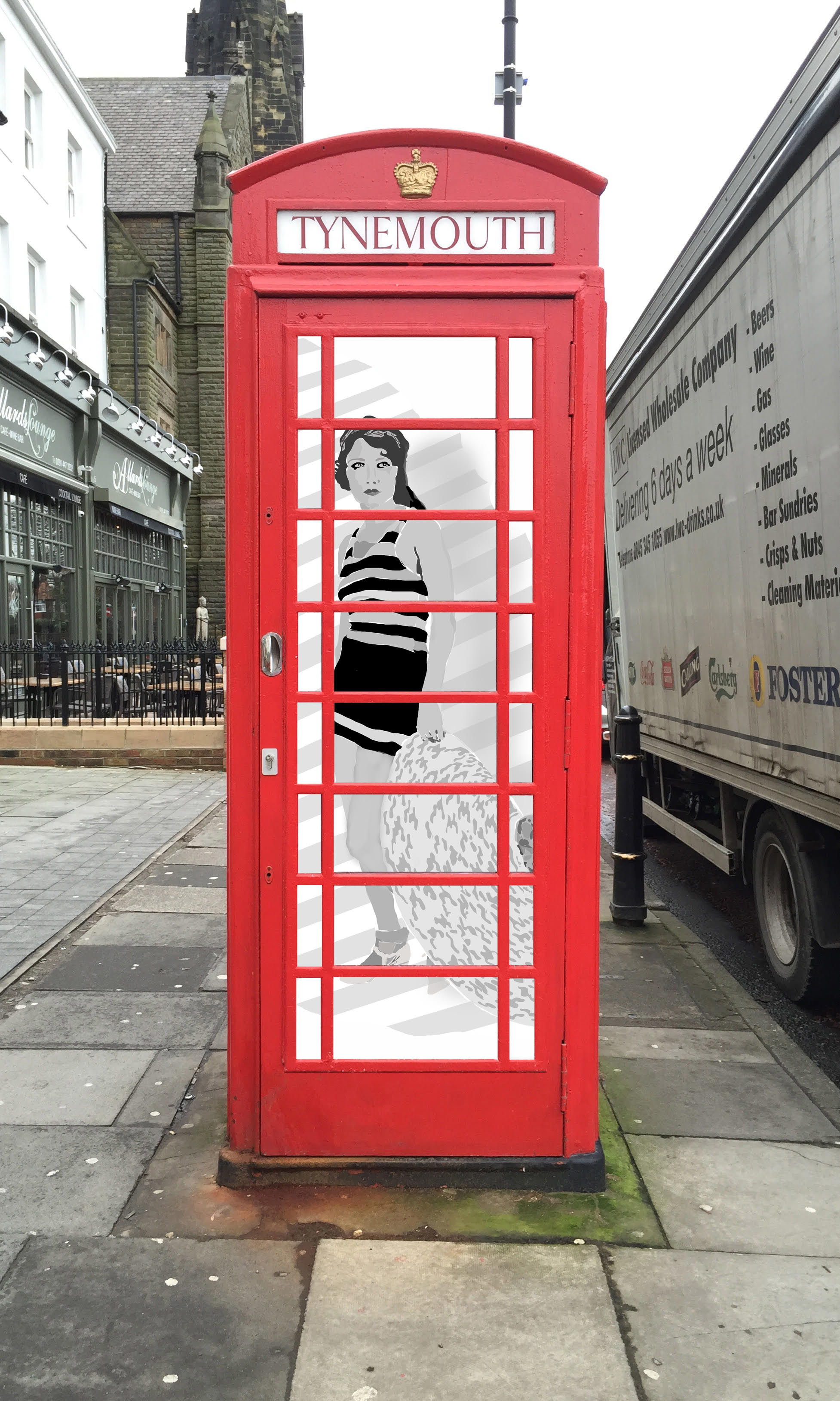 phone box woman
