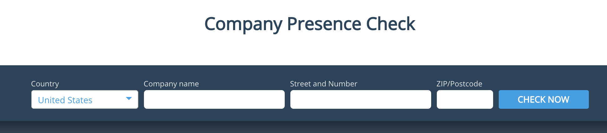 Online presence check tool