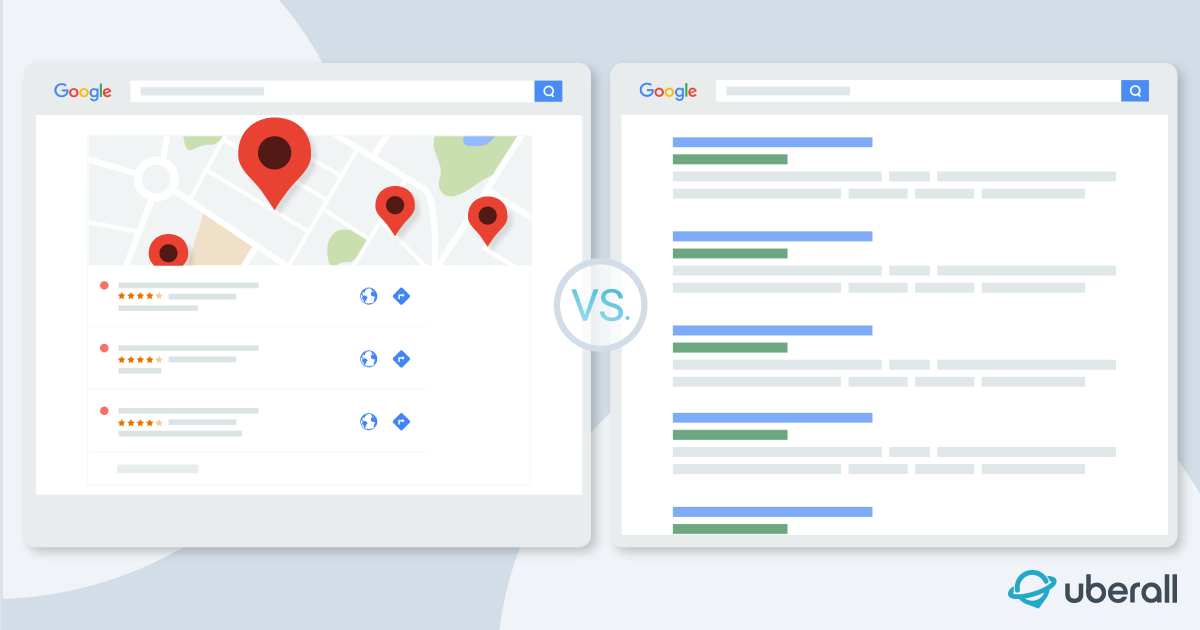 organic seo vs local seo