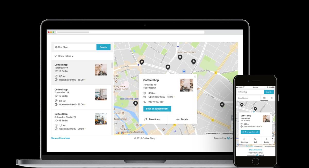 Uberall Locator website image 2