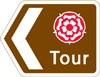 Direction along a route passing through places of interest recognised by a regional tourist board or the English tourist board