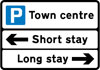 General directions to different types of parking place