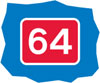 The number of a route for pedal cycles forming part of a national cycle route network
