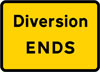 End of temporary diversion route