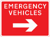 Junction ahead leading to a route for emergency vehicles to a temporary incident control point