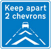 Drivers should keep a distance of two chevron markings from the vehicle in front