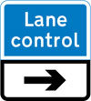Direction of a system of lane control light signals
