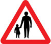 Pedestrians in road ahead