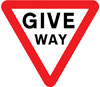 Give way to traffic on the major road