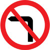 No left turn for vehicular traffic