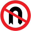 No U-turns for vehicular traffic